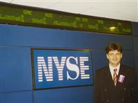 Zeljko Kardum at the New York Stock Exchange
