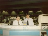 Internship at PSE 1992: Zeljko Kardum & Rad Artukovic (Floor Governor, Pacific Stock Exchange, L.A.)