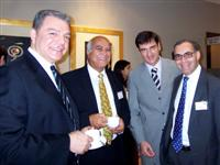 Abu Dhabi FEAS meeting: Hysein Erkan (President Istanbul Stock Exchange), Aril Seren (Secretary General Federation of Euro-Asian Stock Exchanges), Zeljko Kardum & Thomas Krantz (Secretary General, WFE)